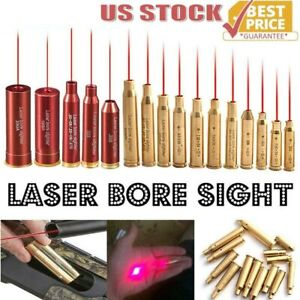 Laser Bore Sight BoreSighter Gun Red Dot Laser Cartridge Many Calibers Available $10.99