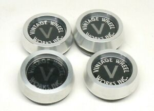 4 Vintage Wheel Works Center Caps Mustang Shelby