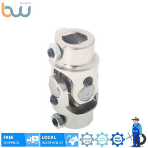 Stainless Steel Single Universal Steering Chrome U Joint Shaft 3 4 Dd X 3 4 Dd
