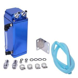 750ml Cylinder Aluminum Square Engine Oil Catch Can Tank Blue