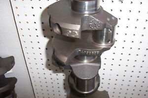 350 Sbc Crankshaft Large Journal Turned 020 R0ds Mains 020 With New Bearings