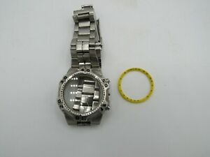 Watchmaker s Estate Seiko 7t62 Flightmaster Chrono Case And Band Parts repair Rk
