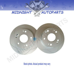 2 Front Slotted Disc Brake Rotors For Ford Mustang 1994 2004 275 Mm O d