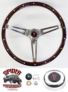 1969 1993 Pontiac Steering Wheel 15 Muscle Car Mahogany