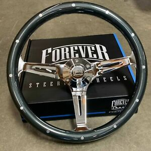 15 Grey Steering Wheel With Rivets 6 Hole Horn Button Factory Second