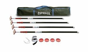 Zipwall Available Zippole 10 Spring loaded Poles For Dust Barriers 4 pack