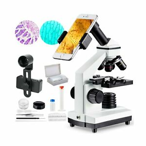 1000x Microscope For Students With Prepared Slides Kit For School Teaching De