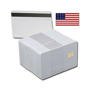 100 Pack Sle4442 Chip Cards With Hi co Magnetic Stripe Pvc Sle 4442