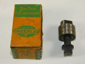 Greenlee No 730 11 16 Round Metal Radio Chassis Punch Set Used In Box