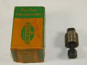 Greenlee No 730 1 2 Round Metal Radio Chassis Punch Set Used In Box