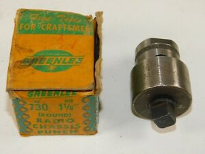 Greenlee No 730 1 1 8 Round Metal Radio Chassis Punch Set Used In Box