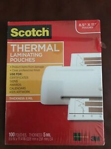 Scotch Thermal Laminating Pouches 8 9 X 11 4 100 Pouches