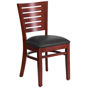 Flash Furniture Darby Series Slat Back Mahogany Wooden Restaurant Chair