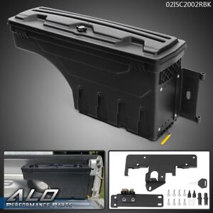 Fit For 05 20 Toyota Tacoma Rear Truck Bed Storage Box Toolbox Right Side Black