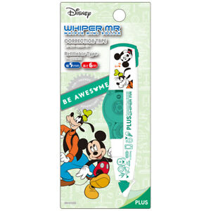 Plus Disney Whiper Mini Roller mickey Mouse Goofy Correction Tape In Stock
