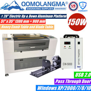 Usa 1390 150w Laser Engraver With Double Table up down Lift pass Through Door