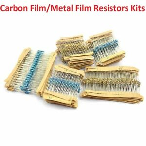 1w 2w 3w 5w Carbon Film Resistor Kit 1 2w 1w Metal Film Resistor Combination Kit