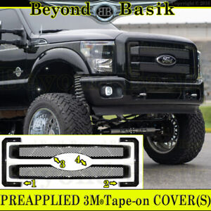 2011 13 2014 2015 2016 Ford F250 350 Mesh Style Gloss Black Grille Cover Insert