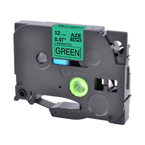 1pk Compatible With Brother Pt1400 Tze 731 Tz 731 Green Label Tape 12mm