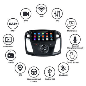 16gb Android 9 1 Car Stereo Radio Touch Screen Bluetooth For Ford Focus 12 17