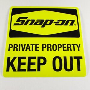 Snap On Tools Sticker Decal Private Property Keep Out Tool Box Fridge Window