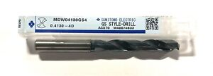 Sumitomo Letter Z Solid Carbide Drill Dex Coated Gs Style Drill Mdw04130gs4