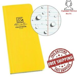 Rite In The Rain Weatherproof Soft Cover Tally Notebook 3 1 2 X 8 No 324