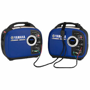 Yamaha Two Ef2000isv2 2000 Watt Generators Ef2000is Ef2000 Parallel Kit Inc