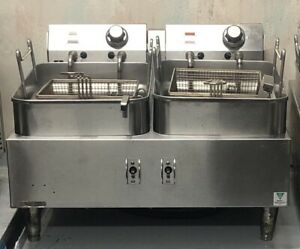 Dual Countertop Fryer Wells F30 Electric Commercial