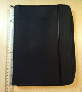Vintage Day Runner Classic Planner Organizer Zip Around Black 3 Ring Binder Nylo