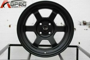 15x8 Rota Grid V 4x114 3 0 Flat Black Wheels Set Of 4