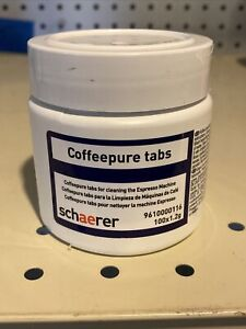 Schaerer Coffeepure Tabs For Cleaning Expresso Machine 100 Bcc X 1 2g