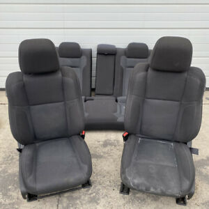 15 17 Dodge Charger Seats Black Cloth Driver Power Full Set Oem