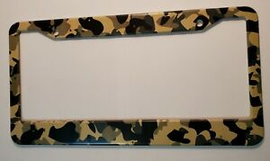 Soldier Camo Aluminum Standard License Plate Tag Frame