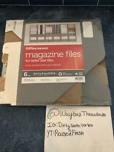 Magazine File Letter Size 6 In Each Pack