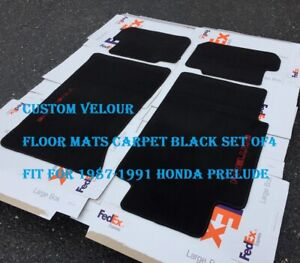 Fit For Honda Prelude Turbo Si Ex 4ws Floor Mats Carpet Black Pack Of4 1988 1991