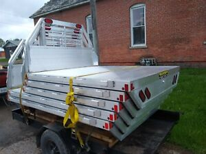 Aluma 81 X 87 Aluminum Shortbed Flatbed Truck Body Adjustable Frame Width