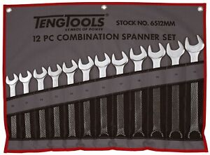 Teng Tools 12 Piece Large Size Combination Spanner Set 20 32mm 6512mm