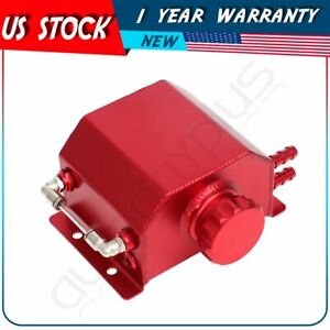 Aluminum Universal Radiator Coolant Overflow Bottle Recovery Water Tank 1l