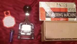 Vintage Bates Numbering Machine Stamp Standard Movement Box Included