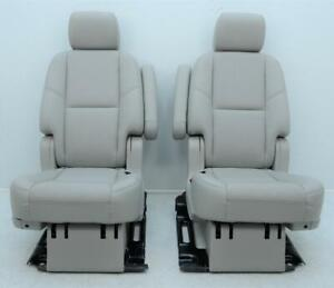 2007 2014 Gm Tahoe Yukon Escalade 2nd Second Row Gray Leather Seats