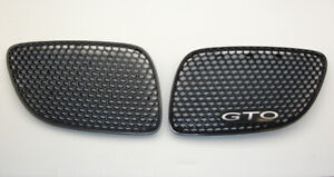 04 06 Pontiac Gto Kidney Reproduction Grilles Grills Black Inserts Upper Inserts