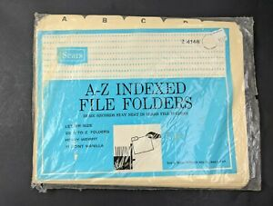 Sears File Guides Indexed A Z Legal Size Office Durable Manila Factory Sealed