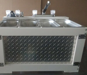 Portable Table Top Concession Sink 3 4 Compartment Sink sratch And Dent