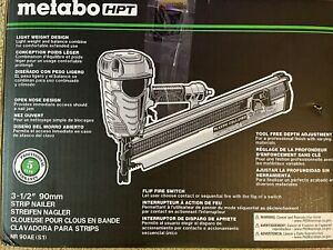 3 1 2 21 Plastic Collated Framing Nailer Metabo Hpt Nr90aes1