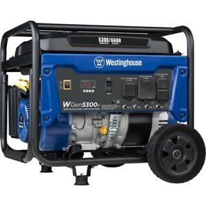 Westinghouse Wgen5300v 6 600 w Portable Rv Ready Gas Powered Generator Home Rv