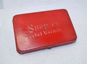 Classic Snap On Empty Metal Storage Case Box From 1 4 Socket Wrench Set Vtg
