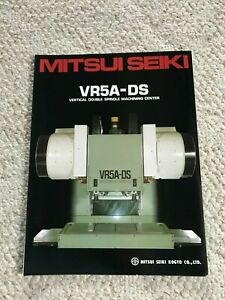 Mitsui Seiki Vr 5a ds Cnc Vertical Double Spindle Machining Center Specification
