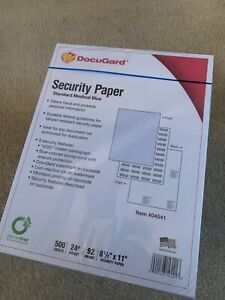 Docugard Security Paper Standard Medical Blue 8 5 X 11 500 Sheets