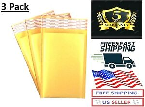 3pack Original Small Self Seal Kraft Bubble Mailers Padded Envelopes 4x 8